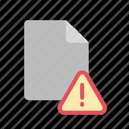 alert, blanck, document, file icon