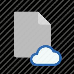 blanck, cloud, document, file icon