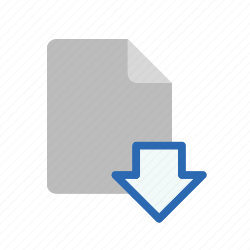 blanck, document, download, file icon