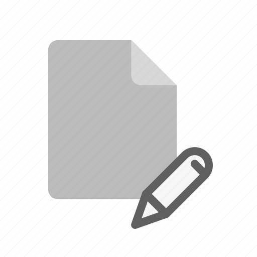 blanck, document, edit, file icon