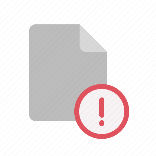 blanck, document, exclmark, file icon