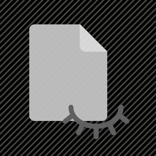 blanck, document, file, hidden icon