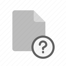 blanck, document, file, question icon