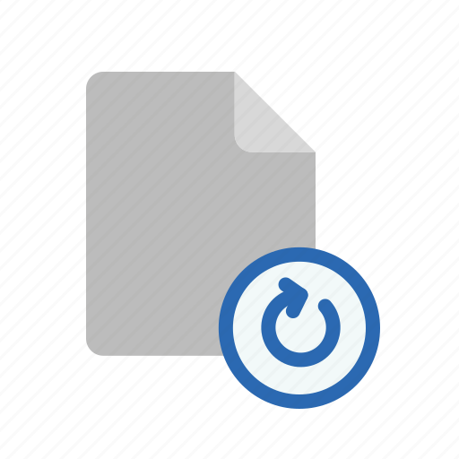 blanck, document, file, refresh icon