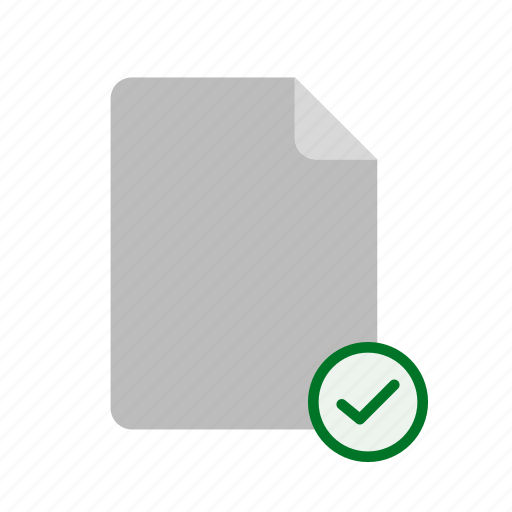 accept, blanck, file icon
