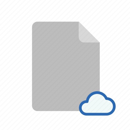 blanck, cloud, document, file icon