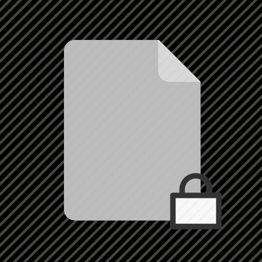 blanck, document, file, locked icon