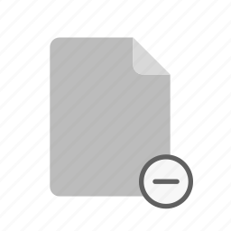 blanck, document, file, remove icon
