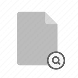 blanck, document, file, search icon