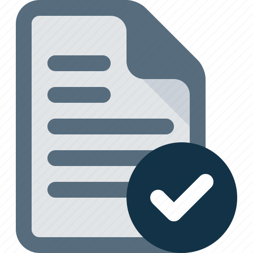 accept, check, document, file icon