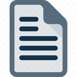 document, file, office, text, word icon