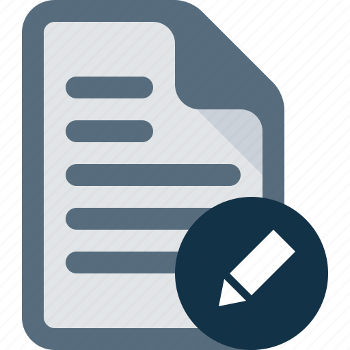 document, edit, file, text icon