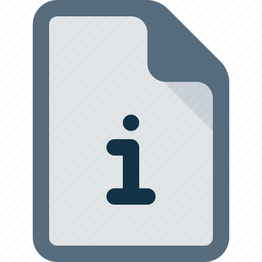 Document, file, info, information icon - Download on Iconfinder