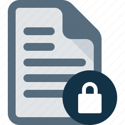block, document, file, lock, security icon