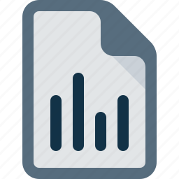 chart, document, file, poll icon