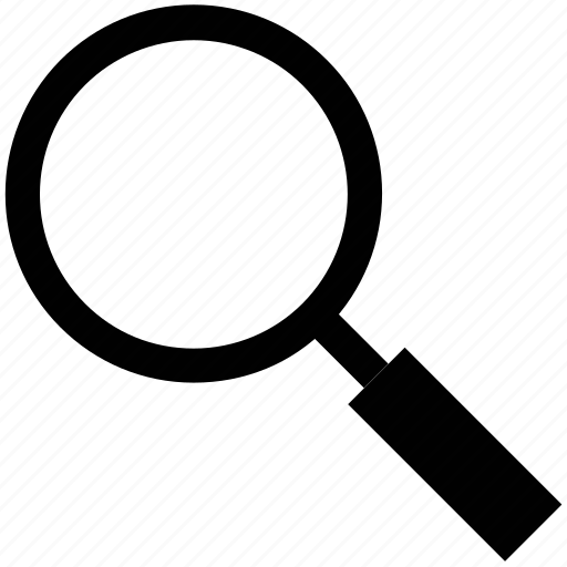 glass, lens, magnifier, magnifying glass, research tool, search tool icon