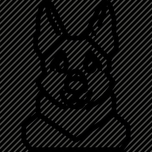 Animals, avatar, dog, german, pets, puppy, shepherd icon - Download on Iconfinder