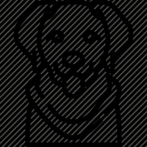 Animals, avatar, dog, golden, pets, puppy, retriever icon - Download on Iconfinder