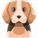 animal, avatar, beagle, canine, dog, pets, puppy