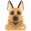avatar, canine, dog, german, pets, puppy, shepherd icon