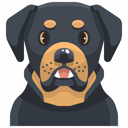 Animal, avatar, canine, dog, pets, puppy, rottweiler icon - Download on Iconfinder