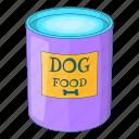 dog, food, eat, tin icon