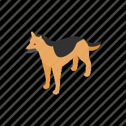 animal, blog, canine, dog, isometric, pet, shepherd icon