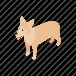 animal, blog, canine, dog, isometric, mongrel, pet icon