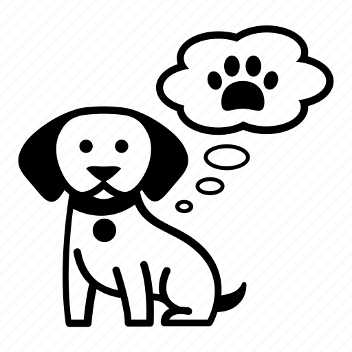 animal, dog, find, needs, pet, thought, track icon