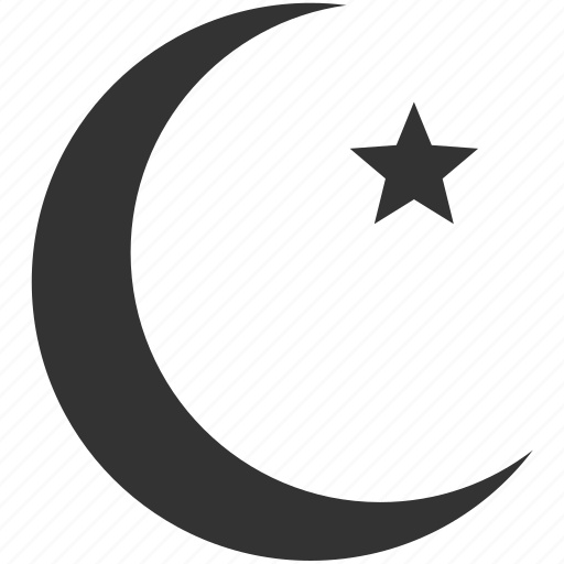 dogma, hallow, islam, islamic, moon, night, religion icon