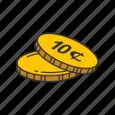 cents, coins, ten cents, dimes
