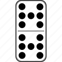 casino, domino, dominoes, gambling, game icon