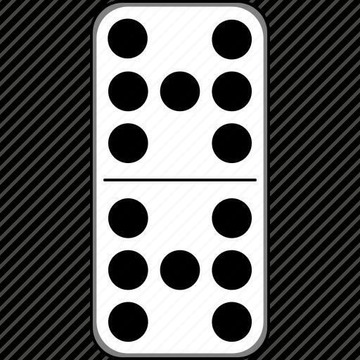 casino, domino, dominoes, gambling, game icon