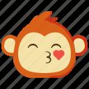 monkeys, kissing, love, emoji, emotion, face