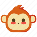 monkeys, shy, blushed, emoji, emotion, face