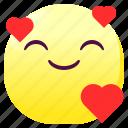 emoji, emoticon, happy, loved, smileys, sticker icon