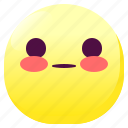 blushed, emoji, emoticon, face, shy, smileys