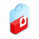 aid, blood, bloodshot, donor, drop, droplet, isometric icon