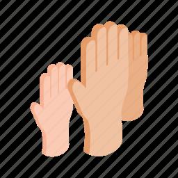arm, hand, illustration, isometric, people, up, vote icon