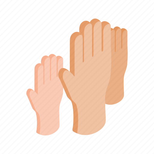 arm, hand, illustration, isometric, people, up, vote icon