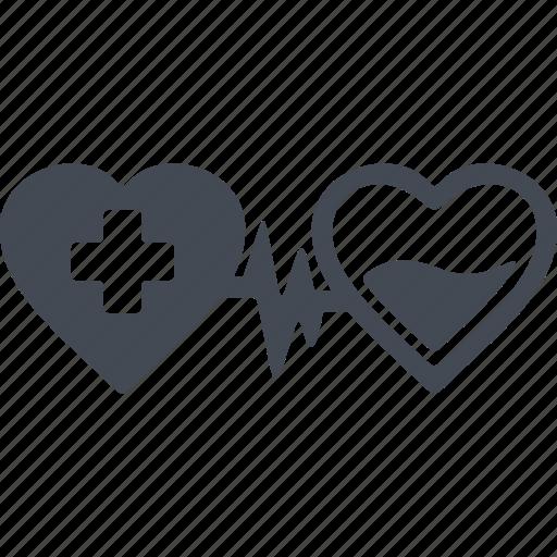 donorship, heart transplant, hearts, transplantation icon