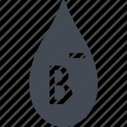 blood, blood type, donorship, rh negative blood icon