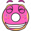 bakery, cartoon, donut, doughnut, emoji, smiley icon