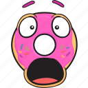 smiley, donut, bakery, doughnut, cartoon, emoji