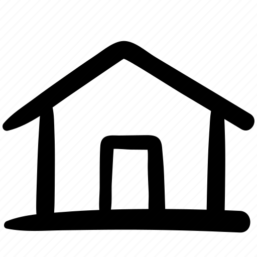doodle, general, home, home position, homepage, house, position icon