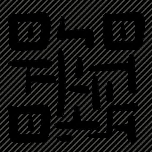 code, design, doodle, qr, qr code, scanner, web icon