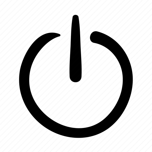 doodle, off, power, shut down, start, turn off, web icon