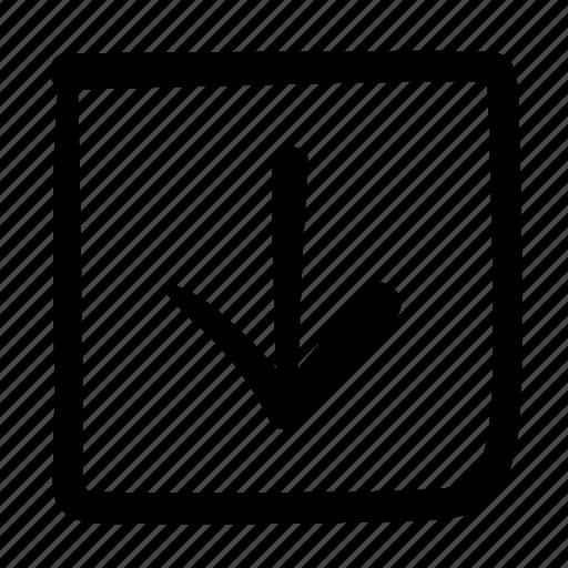 arrow, design, doodle, down, download, move, web icon