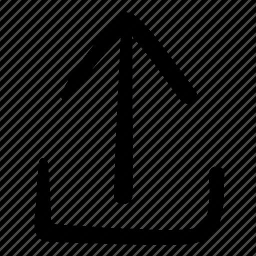 arrow, design, doodle, move, up, upload, web icon