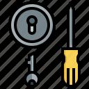 lock, repair, tools, door, screwdriver, maintenance